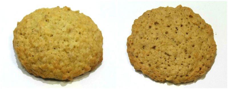 сравнение овсяного печенья на белом и тростниковом сахаре