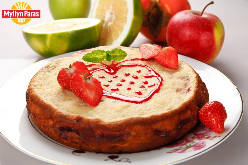 Рецепт пирог клубничный с творогом