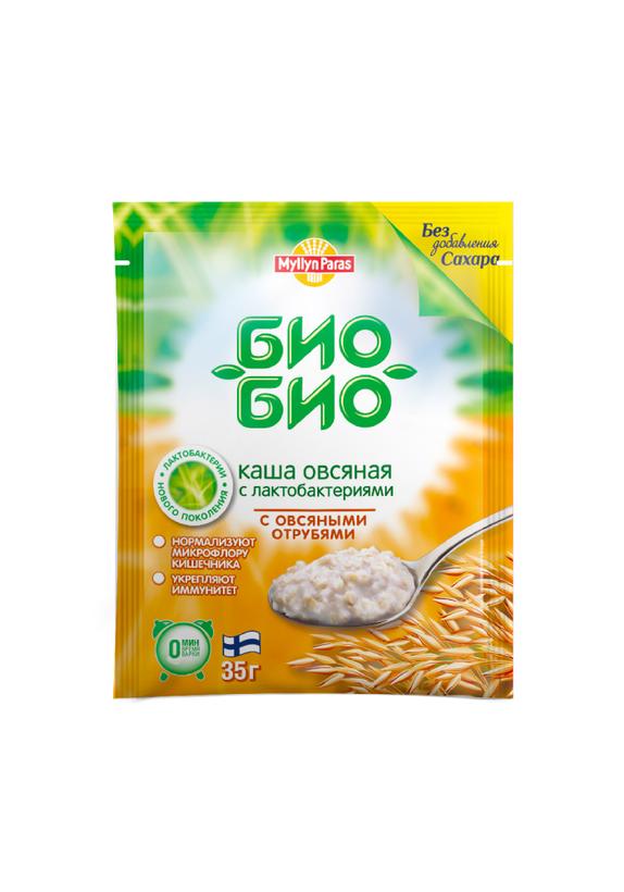 "Овсяная каша ""Био-Био"" с овсяными отрубями (без сахара) в пакетиках"