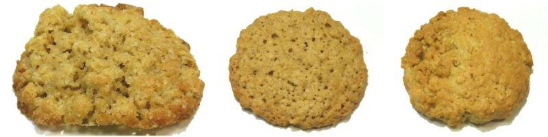 овсяное печенье на тростниковом сахаре из разных видов овсяных хлопьев